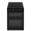 electriQ 60cm Twin Cavity Electric Cooker with Ceramic Hob - Black