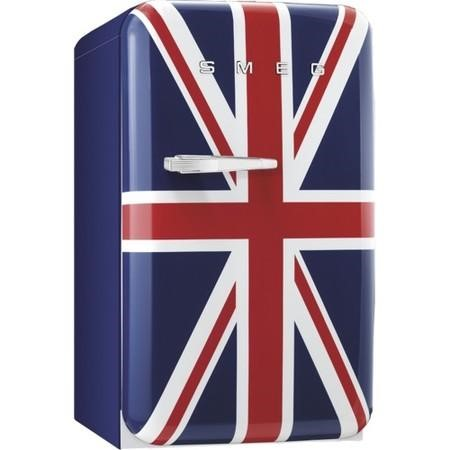 Smeg FAB10RUJ 55cm Wide Retro Style Right Hinge Freestanding Fridge - Union Jack