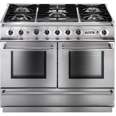 Falcon 79510 Continental 1092 110cm Dual Fuel Range Cooker in Stainless Steel