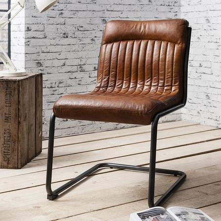 Groovy Capri Leather Chair Industrial Office Chair In Antique Tan Ncnpc Chair Design For Home Ncnpcorg