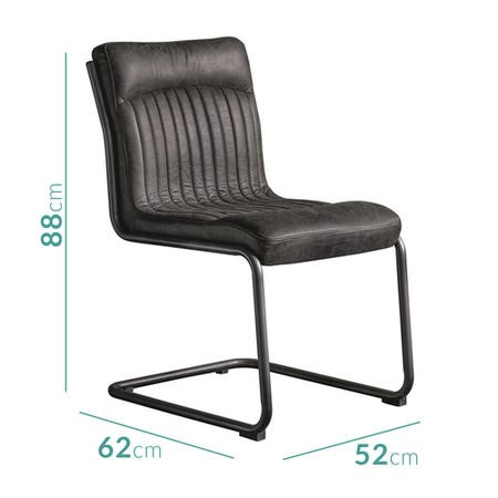 Capri Genuine Leather Upholstered Office Chair in Antique Ebony