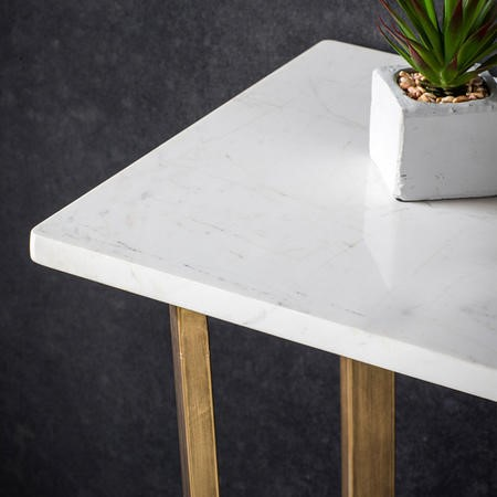 Cleo Console Table with Marble Top