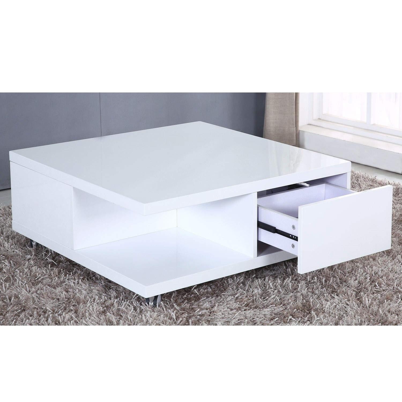 High Gloss White Storage Coffee Table Tiffany Range Buy It Direct