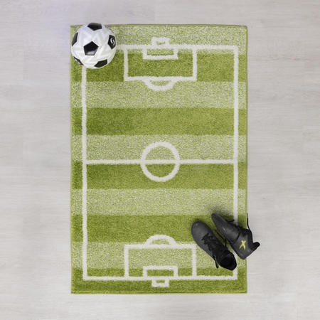 Football Pitch Green Kids Rug 80x120cm - Flair