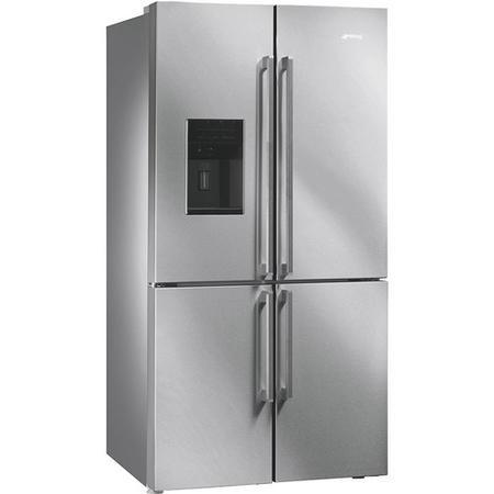 Smeg FQ75XPED Elite 4-Door American Fridge Freezer With Convertible Compartment And Ice/Water Dispenser - Stainless Steel