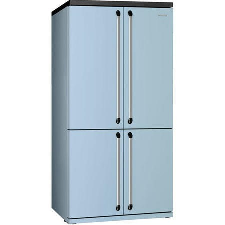 Smeg FQ960PB 90cm Victoria Pastel Blue Freestanding Four Door Fridge Freezer