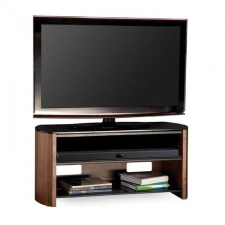 "Alphason FW1100-W/B Finewoods HiFi and TV Stand for up to 50"" TVs - Walnut"