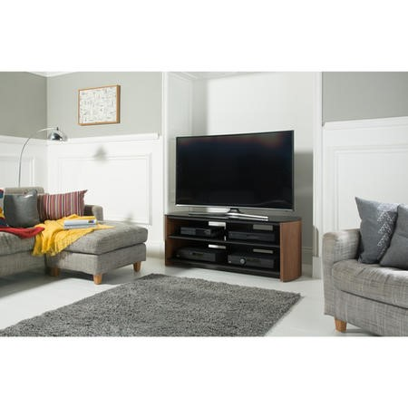 "Alphason FW1350-W/B Finewoods TV Stand for up to 60"" TVs - Walnut"
