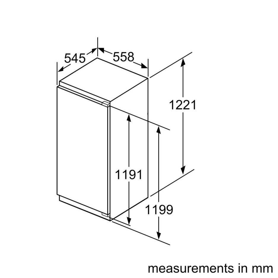 Neff GI7416CE0 N70 120cm Tall In-column Integrated Freezer