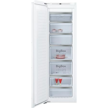 Neff GI7813E30G 56cm Wide Tall Frost Free Integrated Upright In-Column Freezer - White