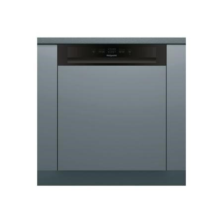 HOTPOINT HBC2B19 13 Place Semi-Integrated Dishwasher - Black Control Panel