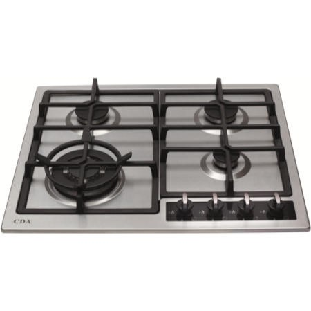 CDA HG6350SS 60cm Four Burner Gas Hob Stainless Steel