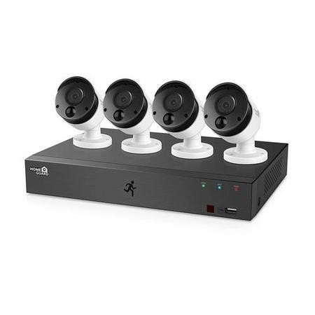 HomeGuard CCTV System - 1080p 8 Channel DVR with 4 x 1080p HD PIR Heat-sensing Day/Night CCTV Cameras & 1TB HDD