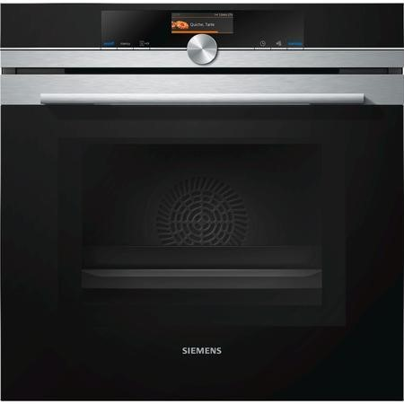 Siemens HM676G0S6B iQ700 Stainless Steel Built-in Combination Microwave Oven With TFT touchDisplay And Pyrolytic Cleaning