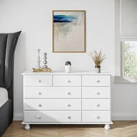Hamilton White Wide Chest of Drawers