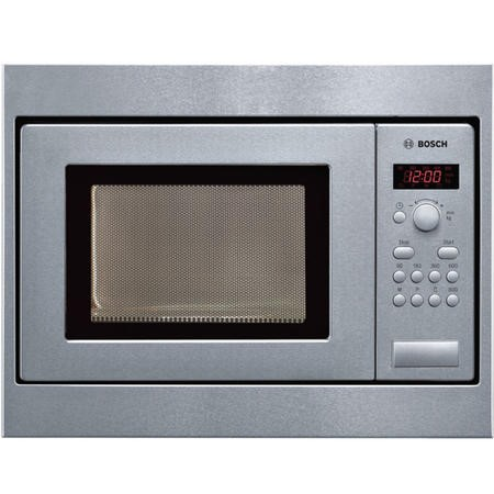 Bosch HMT75M551B 800W 17L Built-in Microwave Oven For 50cm Wide Cabinet Brushed Steel