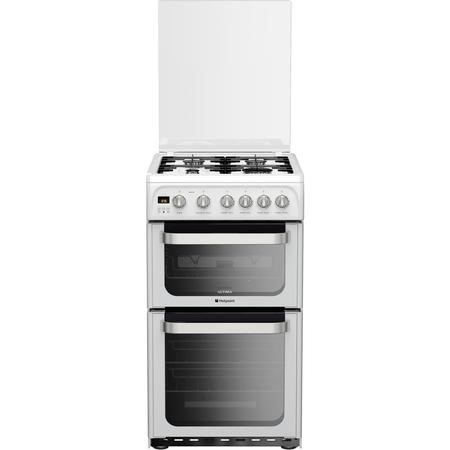 Hotpoint HUG52P Ultima 50cm Double Oven Gas Cooker in White
