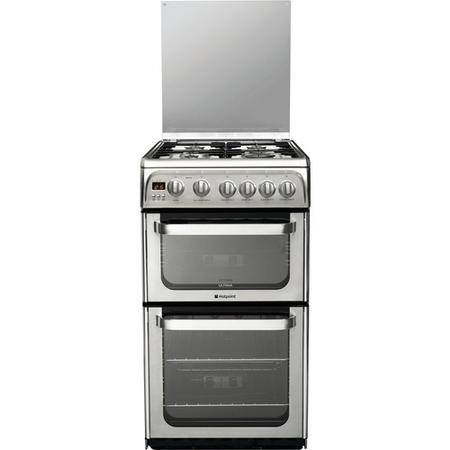 Hotpoint HUG52X Ultima 50cm Double Oven Gas Cooker in Stainless Steel
