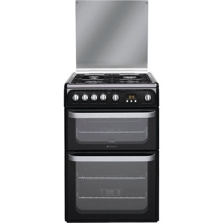 Hotpoint HUG61K Ultima 60cm Double Oven Gas Cooker - Black