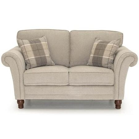 Helmsdale Pewter Fabric 2 Seater Sofa - Includes 2 Cushions