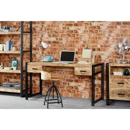 Industrial Home Office Desk with Storage Drawers - Cosmo Range