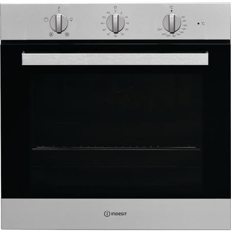 Indesit IFW6330IX Four Function Electric Built-in Single Oven - Stainless Steel