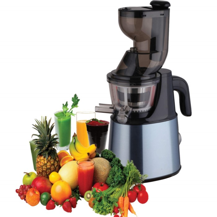 GRADE A1 - Whole Fruit Cold Pressed Slow Juicer in Stainless Steel - Buy It Direct