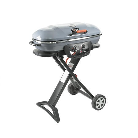 Deluxe Portable Grey BBQ With Trolley