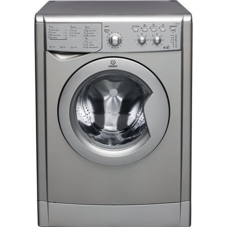 Indesit IWDC6125S 6kg Wash 5kg Dry 1200rpm Freestanding Washer Dryer-Silver