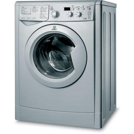 Indesit IWDD7143S EcoTime 7kg Wash 5kg Dry 1400rpm Freestanding Washer Dryer - Silver