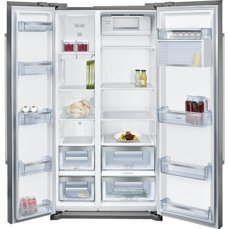 Neff KA7902I20G Side-by-side American Fridge Freezer Fingerprint Free Stainless Steel Doors