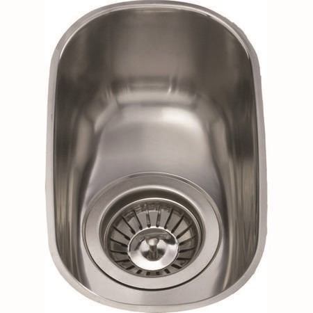 CDA 0.5 Bowl Stainless Steel Chrome Undermount Kitchen Sink