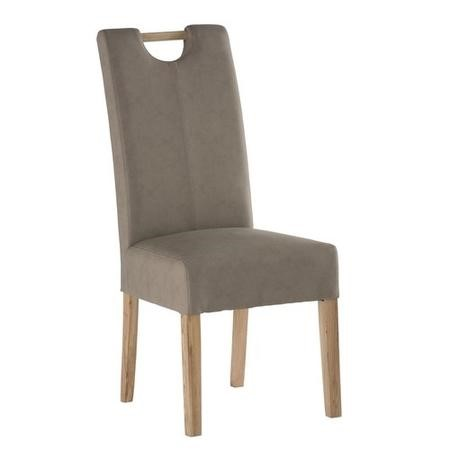 GRADE A1 - Kensington Pair of Faux Leather Mocha Dining Chair