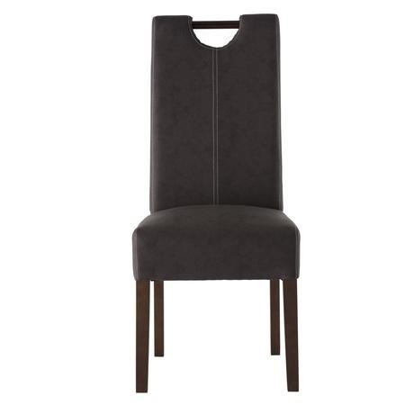 Kensington Pair of Brown Faux Leather Dining Chairs