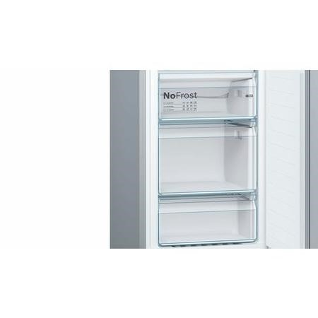 Bosch Serie 2 KGN34NL3AG Freestanding Fridge Freezer Frost Free - Stainless Steel Look