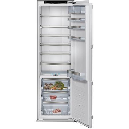 Siemens KI81FPF30G iQ700 177cm Tall 289L In-column Integrated Larder Fridge With Triple hyperFresh Drawers