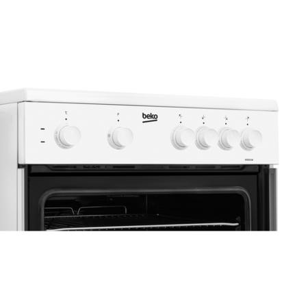 Beko KSC611W 60cm Single Oven Electric Cooker With Ceramic Hob - White