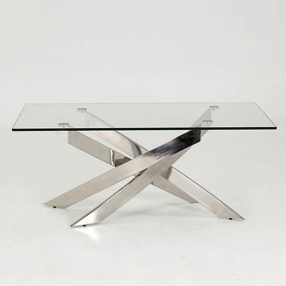Vida Living Kalmar Glass Coffee Table Buy It Direct