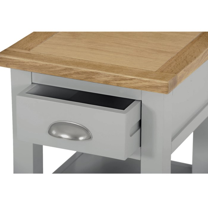 Ashley Furniture In Linden Nj: Linden Grey Farmhouse Side Table With Light Oak Top
