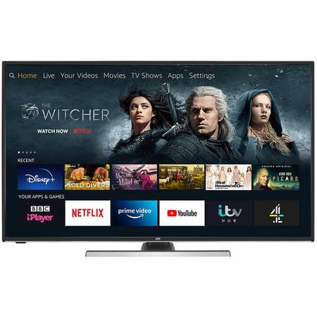 "Refurbished JVC Fire TV Edition 55"" 4K Ultra HD with HDR LED Smart TV"