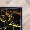 Black & Gold Coffee Table - Large Tray - Lux