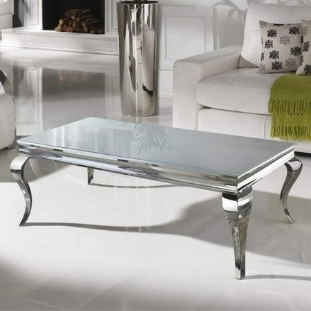 Vida Living Small Louis Coffee Table in White