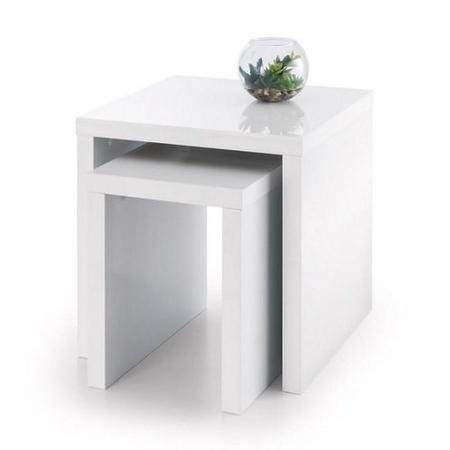 Julian Bowen Metro High Gloss Nest of Tables White