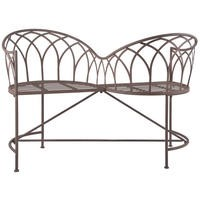 Metal Love Seat Bench - Outdoor Seating