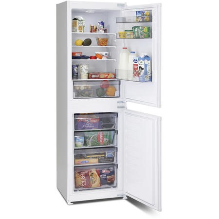 Montpellier MIFF5051F 54cm Wide Frost Free 50-50 Integrated Upright Fridge Freezer - White