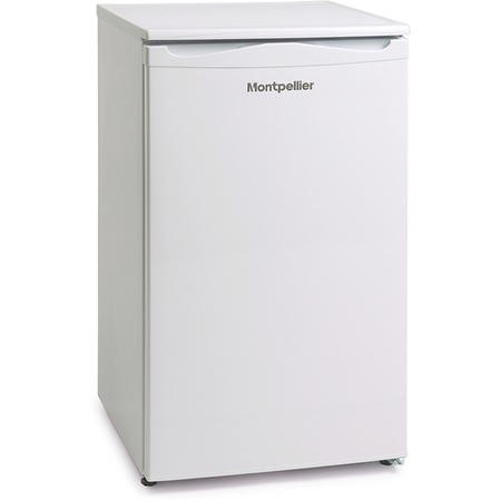 Montpellier MLA48W-2 48cm Wide Freestanding Under Counter Larder Fridge - White