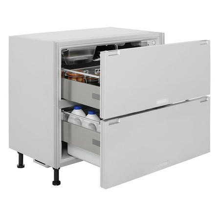 Hotpoint NCD191I 150 Litre Integrated Under Counter Fridge Drawers  90cm Wide - White