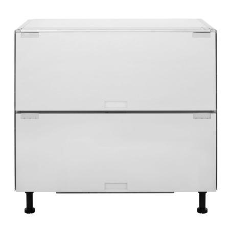 Hotpoint NCD191I 90cm Wide Integrated Fridge Drawers - Silver
