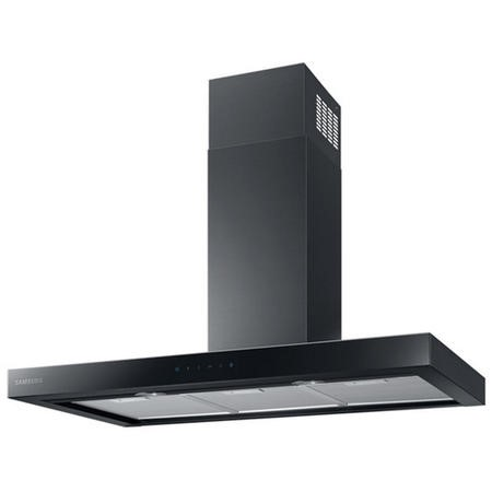 Samsung NK36M5070BM 90cm Chimney Hood - Matt Black Steel With Black Glass