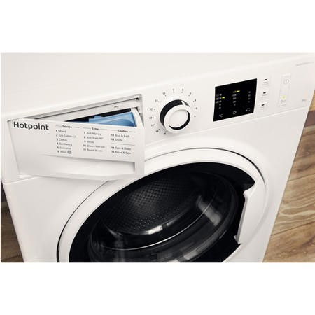 Hotpoint NM10844WW Ultra Efficient 8kg 1400rpm Freestanding Washing Machine - White